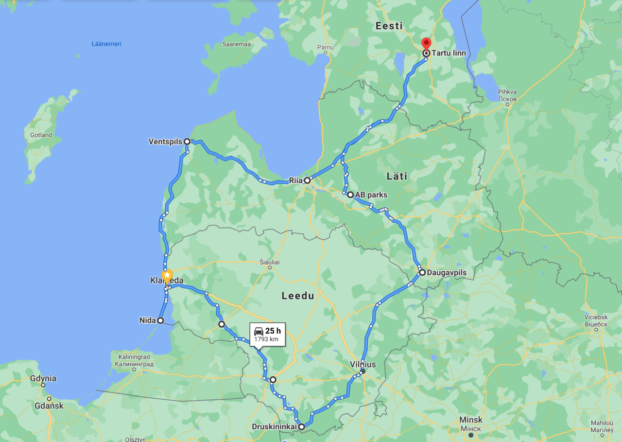 läti-leedu-reis-marsruut