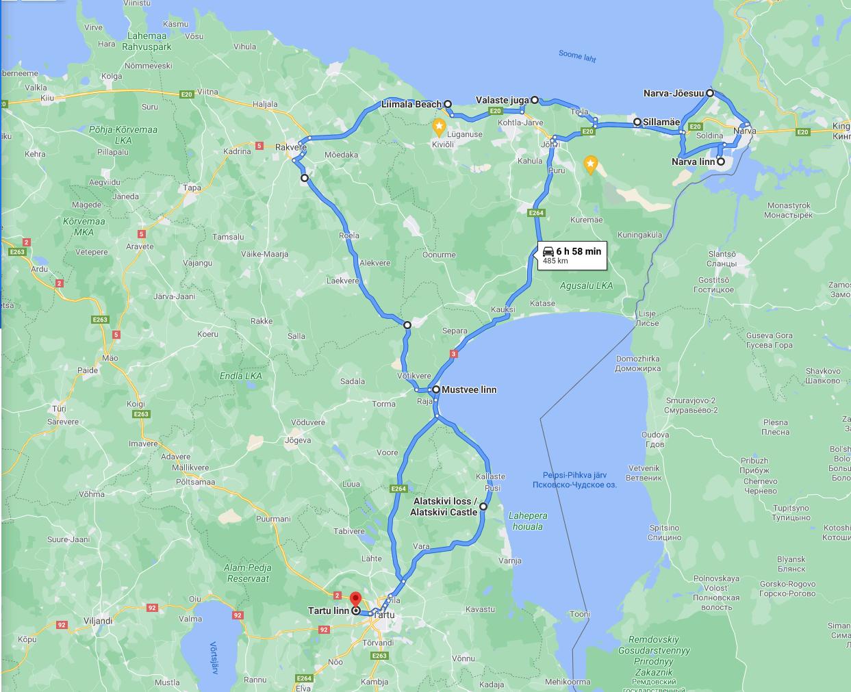 Ida-Virumaa-marsruut